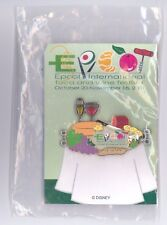 Disney Epcot Food & Wine Festival Wine Bread Cheese Platter Stained Glass Pin