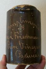 SCARCE SCRATCH JOS L FRIEDMAN & CO. PURE VINEGARS PADUCAH KY ADVERTISING PITCHER