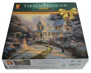 Thomas Kinkade 1000 Piece Jigsaw Puzzle Night Before Christmas 26.6x19 inch fine