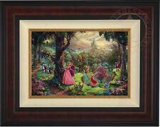 Thomas Kinkade Sleeping Beauty 12 x 18 LE Standard Number Canvas (Burl Frame)