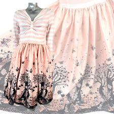Lindy Bop Rockabilly 50s Swing Dress Pink Fairyland Sample Striped Size UK 10
