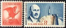 Two 1963 airmail singles, Scott #C67 & C69, MNH, VF
