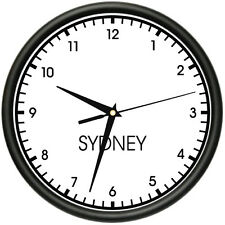 SYDNEY TIME Wall Clock world time zone clock office business