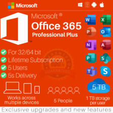 ✅🔥 MICR0SOft Office 365*2019 Pro Plus Account For 5 Devices 5TB MAC & WIN ✅🔥