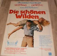 A0 Filmplakat  DIE SCHÖNEN WILDEN, YVES MONTAND,CATHERINE DENEUVE