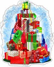 Stack Of Gifts Christmas Santa Xmas Holiday Car Bumper Vinyl Sticker Decal 4