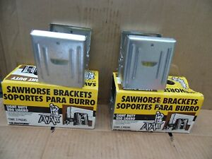 3 Sets 6 Piece Crawford No 87 Vintage Saw Horse Metal Bracket Light Duty NOS USA