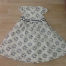 Mädchen festliches Kleid Gr.110 Topolino weiß/blau neuwertig!!!