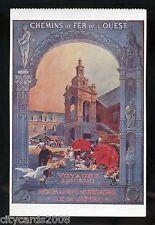 RAILWAY Poster Chemin De Fer De L'Ouest  Normandie Bretagne Ile de JERSEY