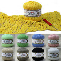 50g Lace Hand Crochet Thread Cotton Wool Embroidery Knitting Threads DIY Crafts