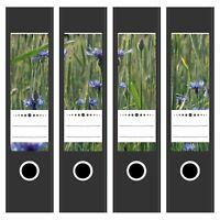 4 x Design Ordnerrücken Etiketten Design Motiv Sommerfeld auf dem Land / breit