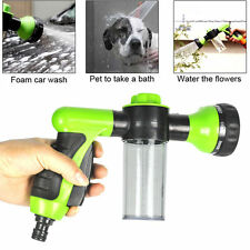 "New 1/2"" 8 Types Foam Car Washing Home Garden Hose Plant Water Spray Shooter"
