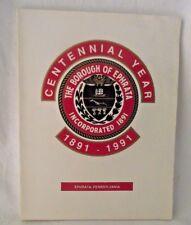 Ephrata PA Centennial Year 1891 1991 Advertising History Photos Genealogy PB