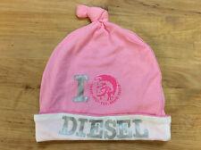 Diesel Baby Girl Pink Hat, Size II