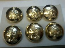 6 X ARMY APPRENTICE SCHOOL CORPS 1 INCH 25MM GOLD BUTTONS IDEAL FOR BLAZER