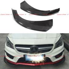 For Mercedes Benz CLA W117 CLA250 CLA45 AMG Carbon Fiber Front Bumper Splitter