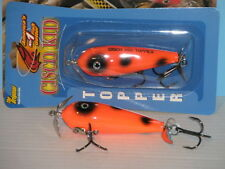 Cisco Kid Topper - Top Water Musky / Muskie Bait - 724 Orange & Black Spot - New