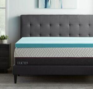 Lucid® Dusk Gel and Aloe Infused Memory Foam Topper 3 Inch, Twin Bed Size