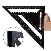 """Speed Square Roofing Quick Rafter Triangle Ruler Guide Aluminum Alloy 7""""/12"""""""