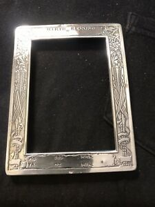Webster Sterling Silver picture frame birth of baby