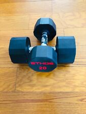 BRAND NEW 20LB PAIR OF RUBBER  HEX DUMBBELLS WEIGHTS