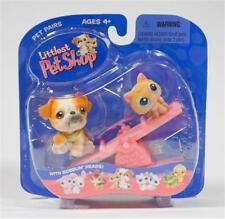 Littlest Pet Shop 2004 Bulldog lot #46 Kitten #47 Rare Retired Nib 1st 80 Pets