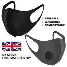 3D Face Mask Mouth Nose Protection with Air Flow Filter Valve Washable Reusable