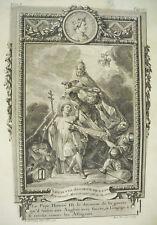 Roi de France Louis VIII le Lion Capétiens direct B L PREVOST sc C N Cochin 1766