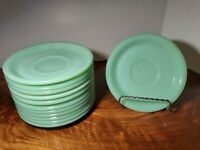 ♡ LOT OF 12 FIRE KING OVEN WARE JADEITE SAUCERS. MINT CONDITION!♡FREE SHIPPING♡