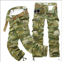 Fashion Popular Men's Camouflage Trousers New Slim Fit Jeans Sports Casual Pants