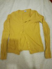 Yellow Petit Bateau Cotton Cardigan
