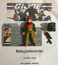 SKIDMARK Vintage 1988 GI Joe Figure, File Card, File Card & Accessories Lot A