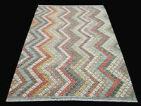 6x8 Floor Covering Flatweaving Techniques Hand-Knotted Rug Kilim Rug