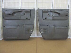 03-15 Chevy Express GMC Savana Van Left Right GRAY Interior CRANK Door Panel SET