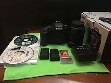 Canon EOS 7D 18 megapixel camera kit w/extras 1080 HD video