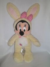 """New listing Disney Store 15"""" Plush Easter Minnie Mouse Yellow Bunny Costume Stuffed Animal"""