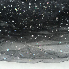 Sparkle Glitter Star Sequin Tulle Fabric Mesh Net Dress Wedding Party Decoration