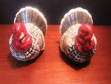 Omnibus OCI Fitz and Floyd Gray Thanksgiving Turkey Candle Holders Set of 2