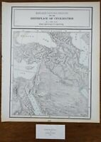 "Vintage 1900 BIRTHPLACE of CIVILIZATION Map 11""x14"" Old Antique Original THEBES"