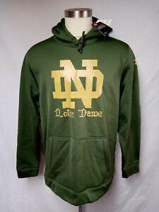Mens Notre Dame  Under Armour Hoodie Sweatshirt 2016 Shamrock Series Size XL
