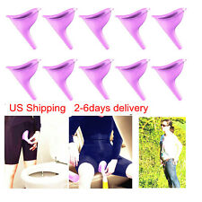 USA 10X Portable Female Woman Ladies She Urinal Urine Wee Funnel Camping Travel