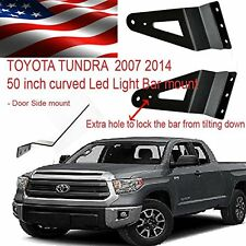 SIDE MOUNT Toyota Tundra 50 inch  Curved Led Light Bar mount Bracket  2007 2015