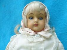 Antique Cabinet Size Doll Original Clothing Cloth Body Open Mouth Attic Find