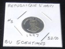 BEAUTIFUL 1997 Republique D' Haiti 5 Centimes Coin (BRILLIANT UNCIRCULATED)