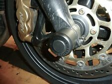 TRIUMPH SPEED TRIPLE 2005-ON  FRONT AXLE CRASH MUSHROOMS  SLIDER PROTECTOR S7V
