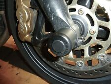 TRIUMPH TIGER 1050 / SPORT / SE FRONT AXLE CRASH MUSHROOMS  SLIDER PROTECTOR S7V