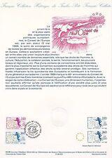 Document Philatélique Timbre 1er Jour  : 04/02/ 1989 - Conseil de l'Europe