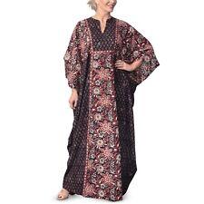 EAST - Anokhi Bagru Floral Print Kaftan Dress (74264)