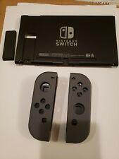 New Genuine Nintendo Switch Back Plate w/ Kickstand HAC-001 & Grey Joycon Shells