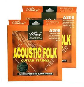 Brand New 2 x Alice A208 Acoustic Folk Guitar String Set (X-Lite)